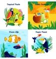 Tropical Design Concept Set vector image