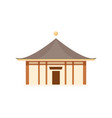 antique asian architecture isolated icon vector image