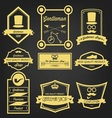 Gentleman Shop Vintage Label vector image