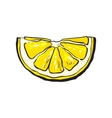 Hand drawn slice of lemon isolated vector image