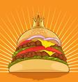 King Burger vector image