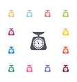 kitchen scales flat icons set vector image