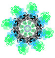 mandala with twists circular pattern vector image