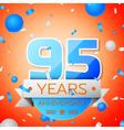 Ninety five years anniversary celebration on vector image