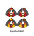 Rabbit Chinese vector image