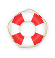 realistic lifebuoy isolated on white background vector image