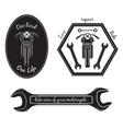 Set of vintage motorcycle labels vector image