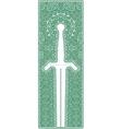 symmetric vintage ornamental dagger vector image