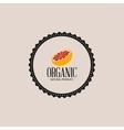 vegan food label vector image