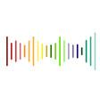 volume sound logo on white background volume vector image