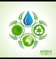 world environment day greeting design vector image