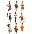 design victorian people vector image