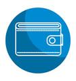 emblem wallet to save money vector image
