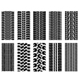 Tire tread patterns vector image vector image