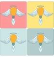 Icon Set light bulb lamp as emblem or logo vector image