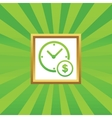 Time is money picture icon vector image