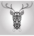 Deer Tattoo Style vector image