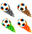 halftone soccer balls vector image vector image