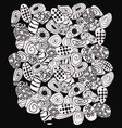 Abstract black and white with stones pattern vector image