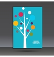 Abstract tree on the cover of brochure vector image