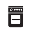 black gase stove icon on white background vector image