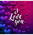 I love You lettering Hand Drawn Lettering vector image