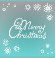 merry christmas hand lettering against the vector image