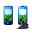 road in mobile phone vector image
