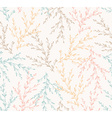Seamless spring pattern with plants floral vector image