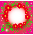 background with the flower and the stars vector image vector image