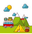 camping related icons image vector image