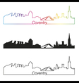 Coventry skyline linear style with rainbow vector image vector image