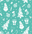 Christmas night pattern 2 vector image