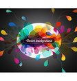 Abstract colored background with flower petals vector image