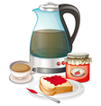 Apple jam and a pitcher of juice vector image