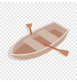 boat with oars isometric icon vector image