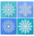 Collection of snowflakes icons vector image