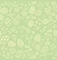 easter egg seamless pattern floral holiday vector image