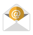 Email with virtual content icon vector image