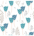 seamless pattern with flowers creative botanical vector image