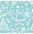 Seamless pattern with wedding design elements vector image