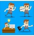 Set of businessman cartoon - vector image