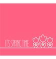 Springtime card on pink background vector image