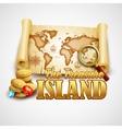 Treasure Island template vector image