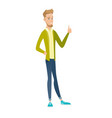 young caucasian businessman giving thumb up vector image