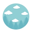 forestscape emblem isolated icon vector image