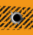 single bullet holes vector image