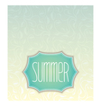 Summer label design vector image vector image