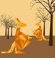 animal abstract vector image