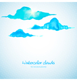 Watercolor clouds background vector image